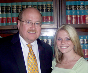 Photo of Randall V. Coffill Esq and Nichole Andriac, Paralegal